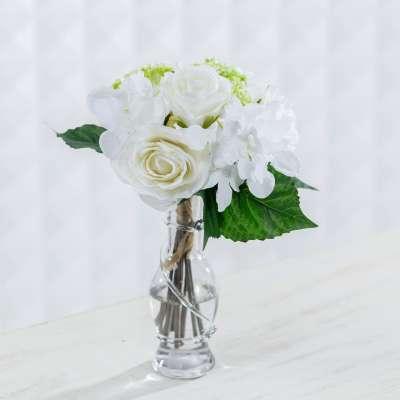 Bukiet White Roses wys. 32cm