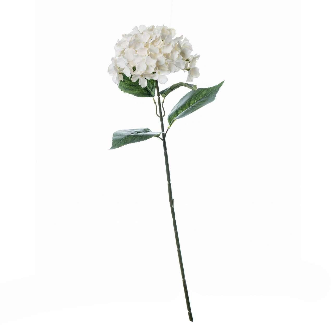 Artificial Cream Hydrangea Flower H 78 cm