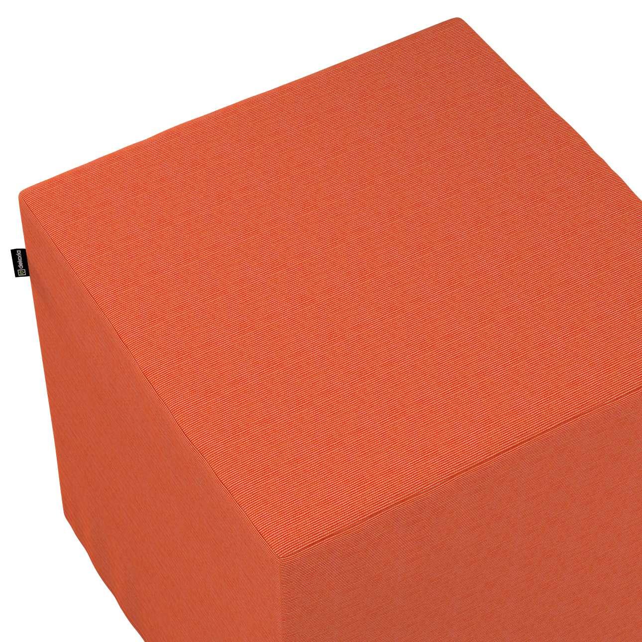 Taburetka tvrdá, kocka V kolekcii Jupiter, tkanina: 127-35