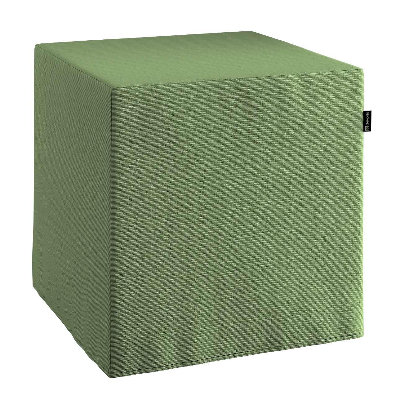 Taburetka tvrdá, kocka V kolekcii Jupiter, tkanina: 127-52