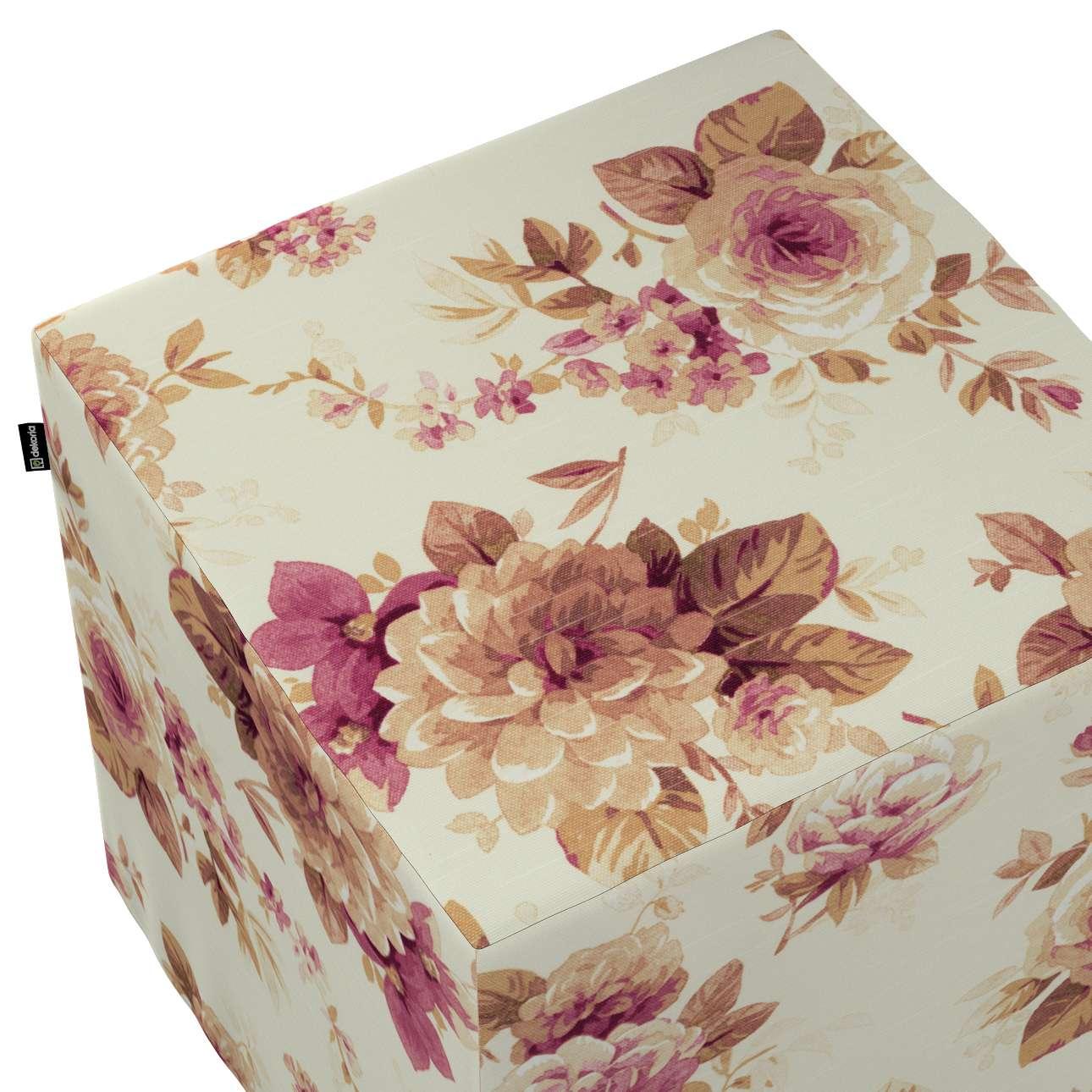 Pufa kostka w kolekcji Londres, tkanina: 141-06
