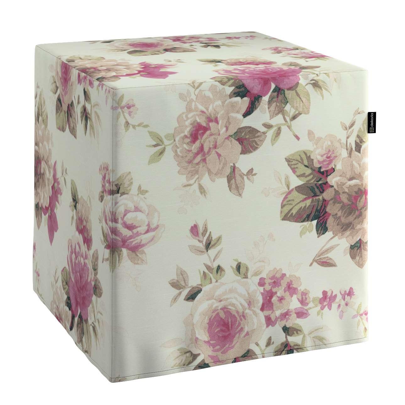 Cube 40 x 40 x 40 cm (16 x 16 x 16 inch) in collection Mirella, fabric: 141-07