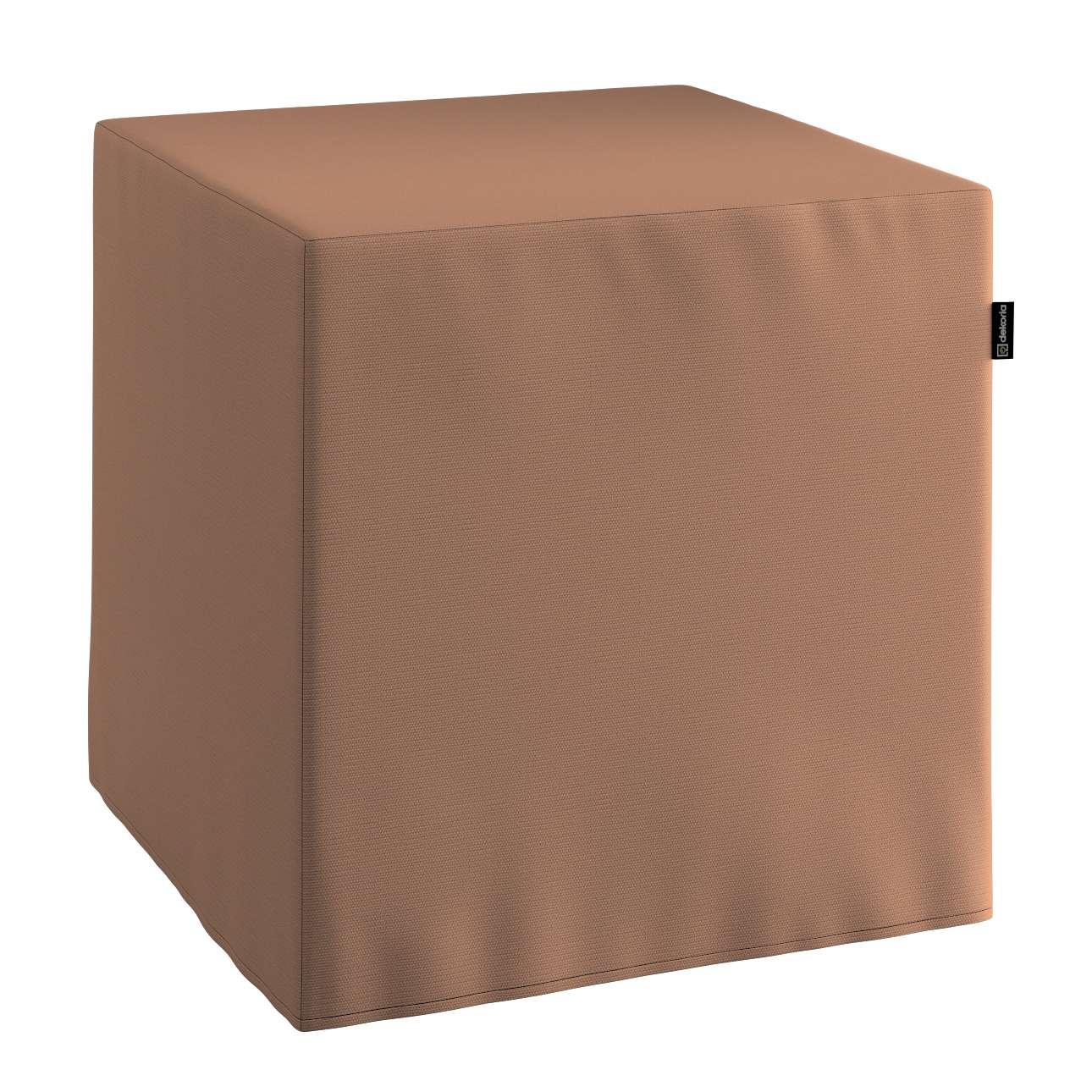 Harter Sitzwürfel 40 x 40 x 40 cm von der Kollektion Cotton Panama, Stoff: 702-02