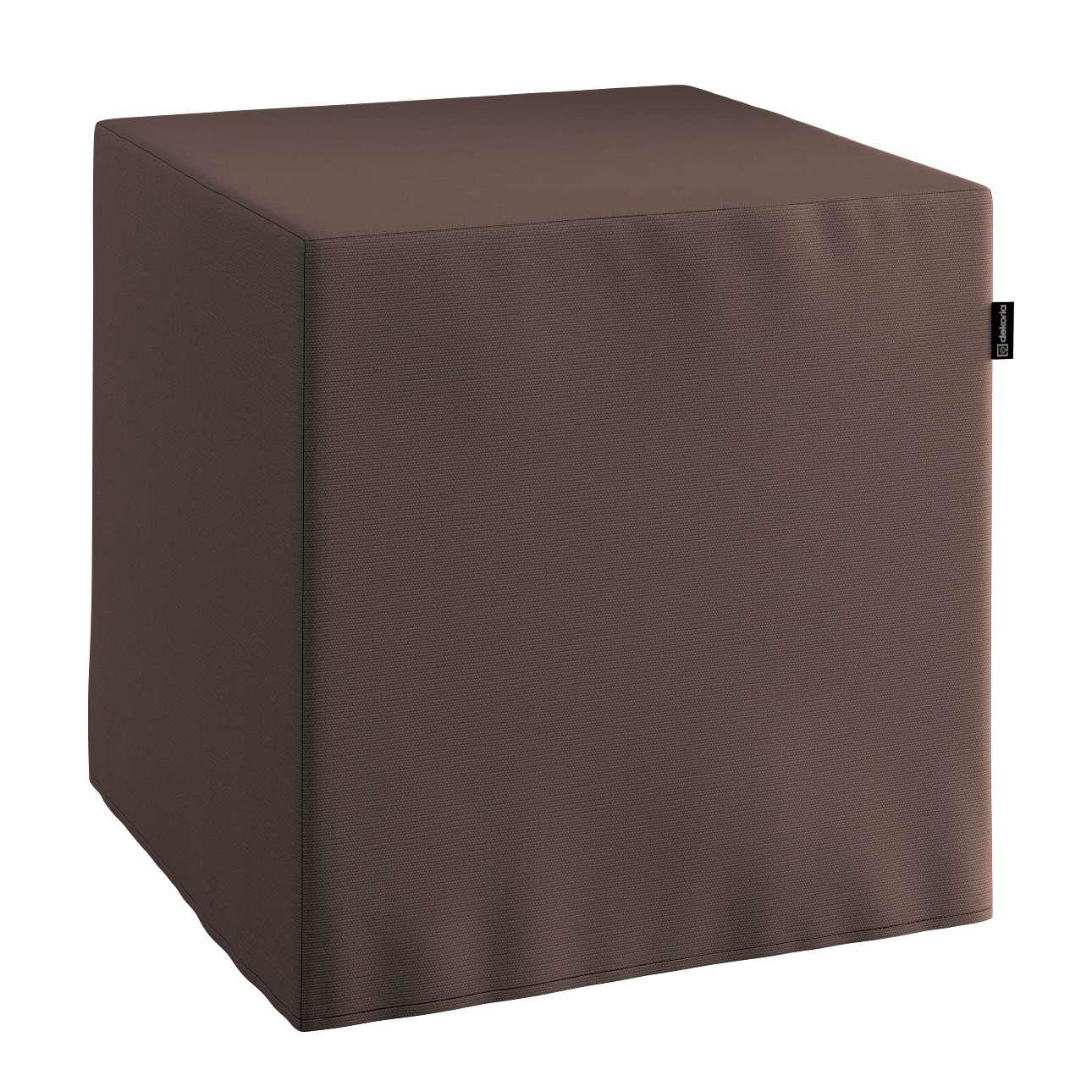 Harter Sitzwürfel 40 x 40 x 40 cm von der Kollektion Cotton Panama, Stoff: 702-03