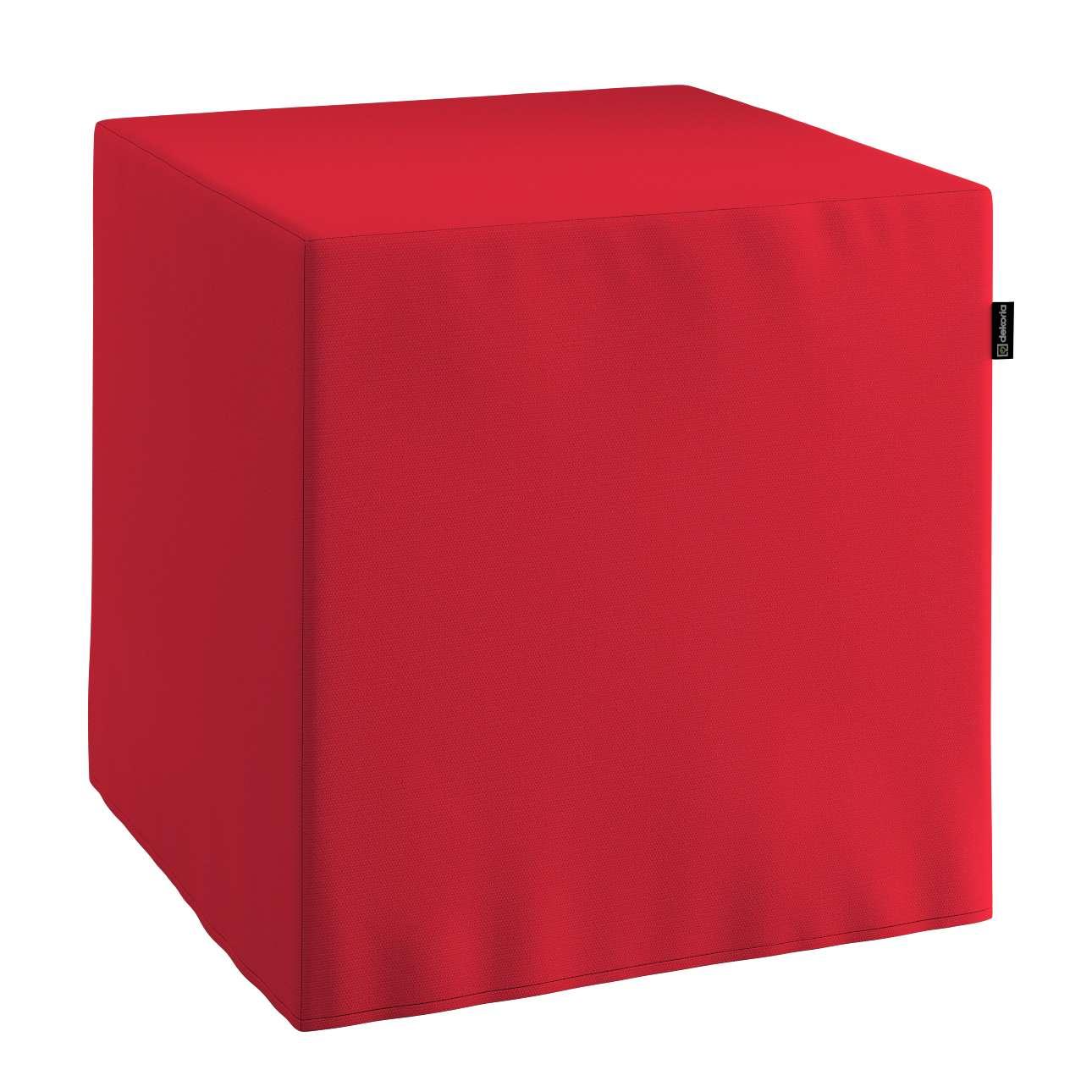 Harter Sitzwürfel, rot, 40 x 40 x 40 cm, Cotton Panama | Wohnzimmer > Hocker & Poufs > Sitzwürfel | Dekoria