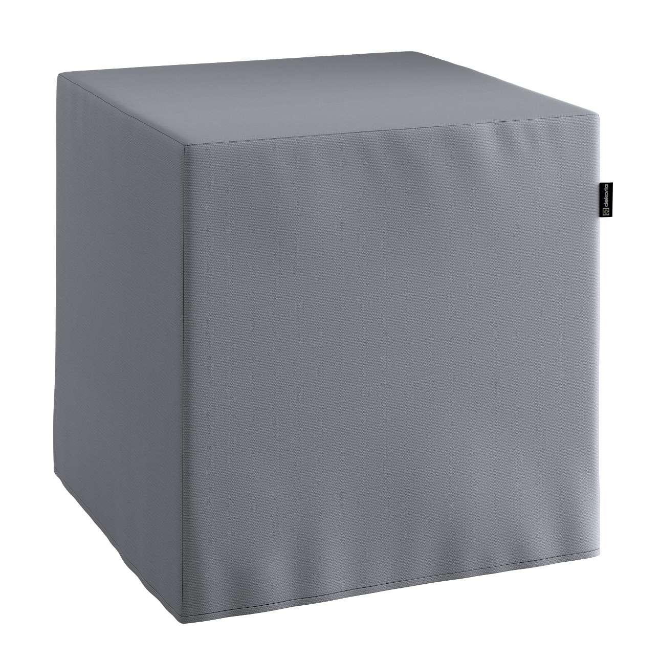Sedák Cube - kostka pevná 40x40x40 v kolekci Cotton Panama, látka: 702-07