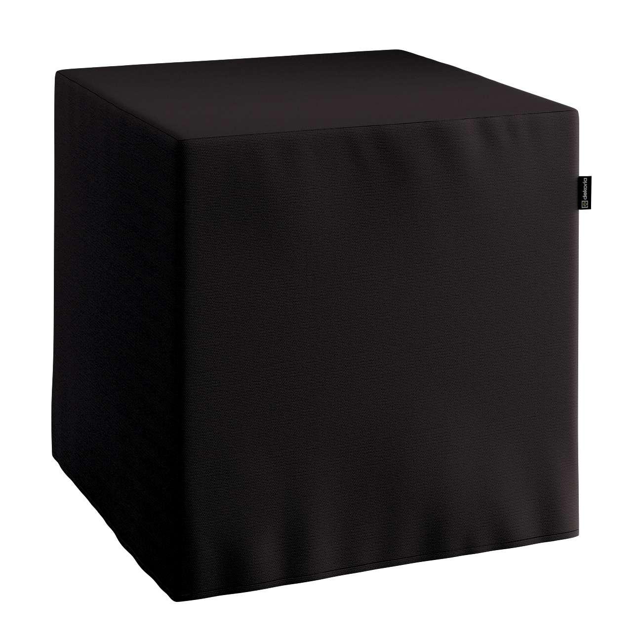 Harter Sitzwürfel 40 x 40 x 40 cm von der Kollektion Cotton Panama, Stoff: 702-09