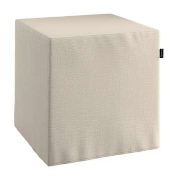 Taburetka tvrdá, kocka V kolekcii Linen, tkanina: 392-05