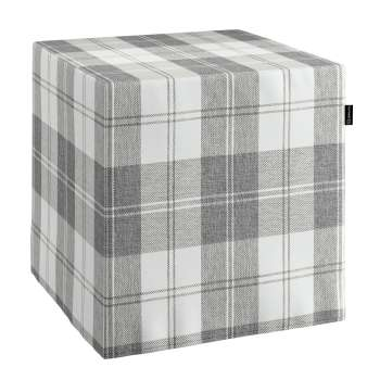 Sedák Cube - kostka pevná 40x40x40 v kolekci Edinburgh, látka: 115-79