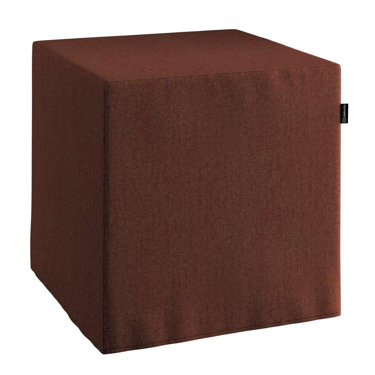 Harter Sitzwürfel 40 x 40 x 40 cm von der Kollektion Chenille , Stoff: 702-18