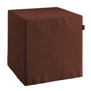 Pufa kostka twarda 40x40x40 cm w kolekcji Chenille, tkanina: 702-18
