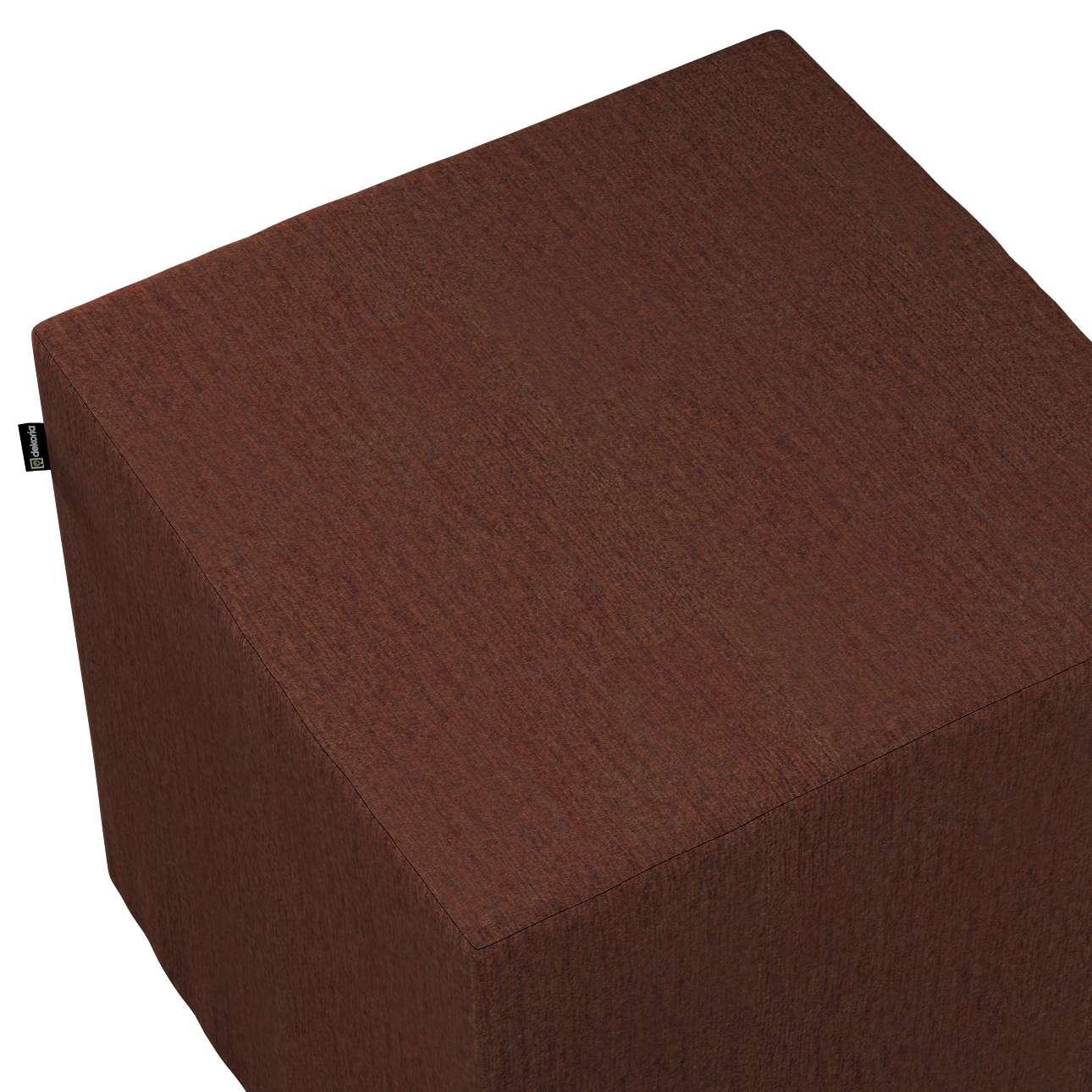 Pufa kostka w kolekcji Chenille, tkanina: 702-18