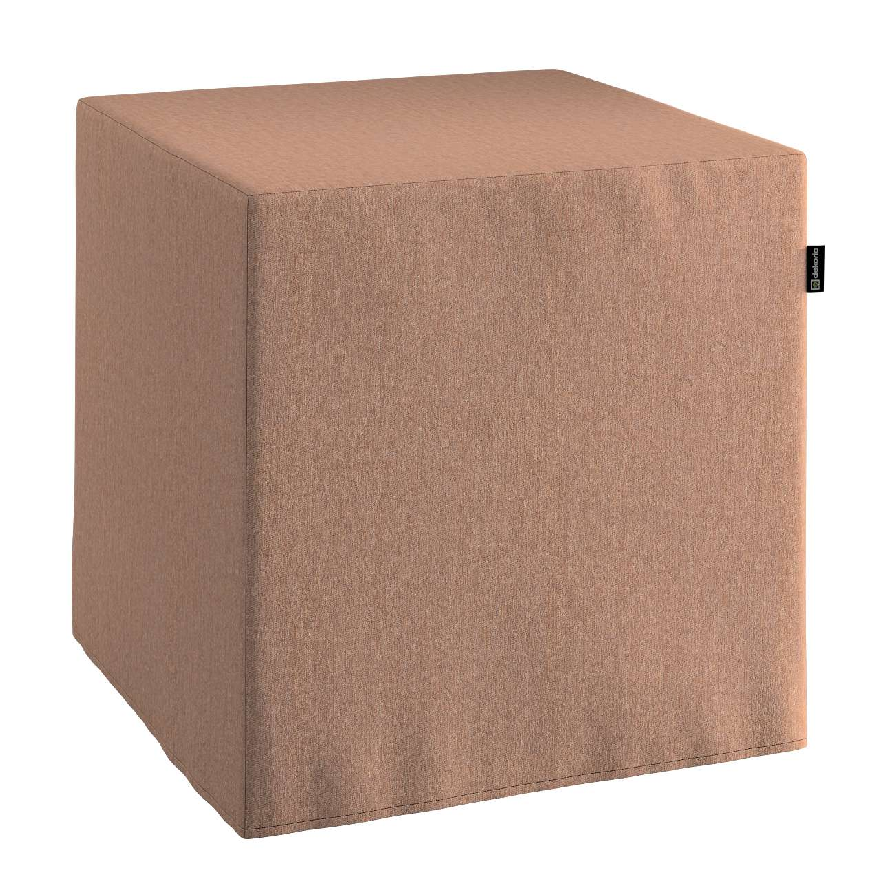 Pufa kostka twarda 40x40x40 cm w kolekcji Chenille, tkanina: 702-21
