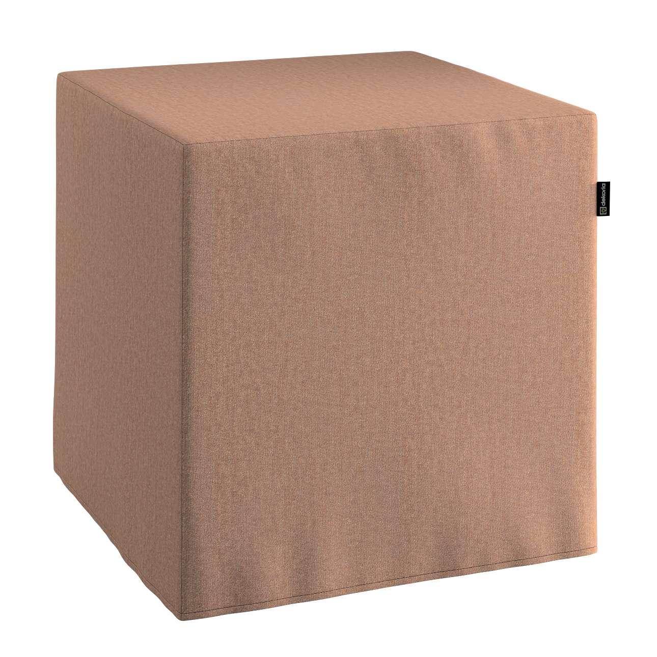 Taburetka tvrdá, kocka V kolekcii Chenille, tkanina: 702-21