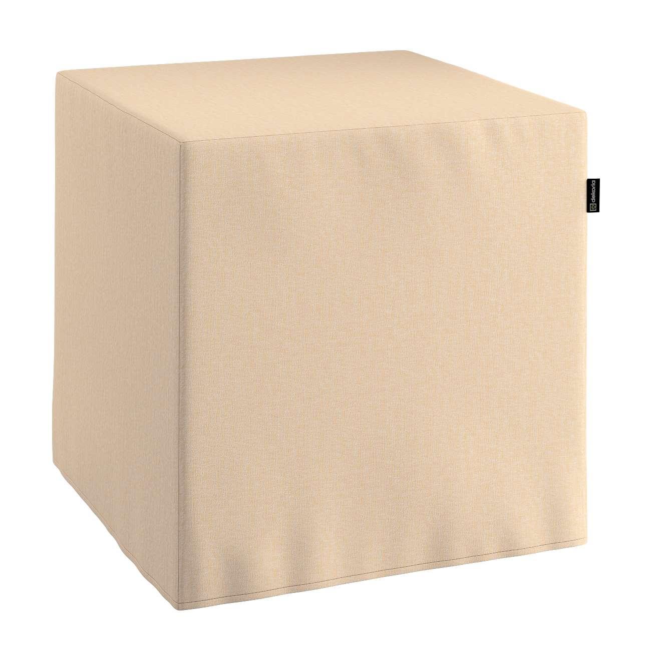 Sitzwürfel, vanille, 40 × 40 × 40 cm, Chenille    Wohnzimmer > Hocker & Poufs > Sitzwürfel   Dekoria