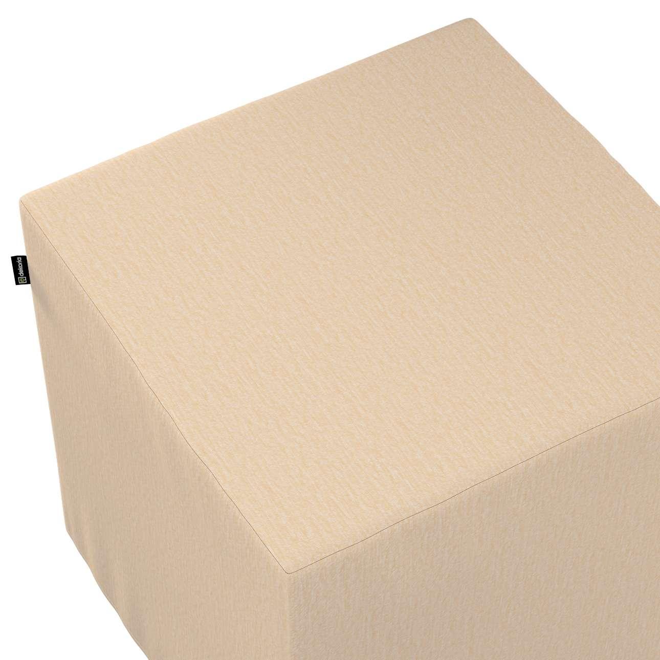 Pufa kostka w kolekcji Chenille, tkanina: 702-22