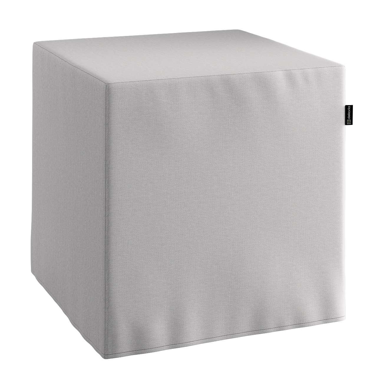 Pufa kostka twarda 40x40x40 cm w kolekcji Chenille, tkanina: 702-23