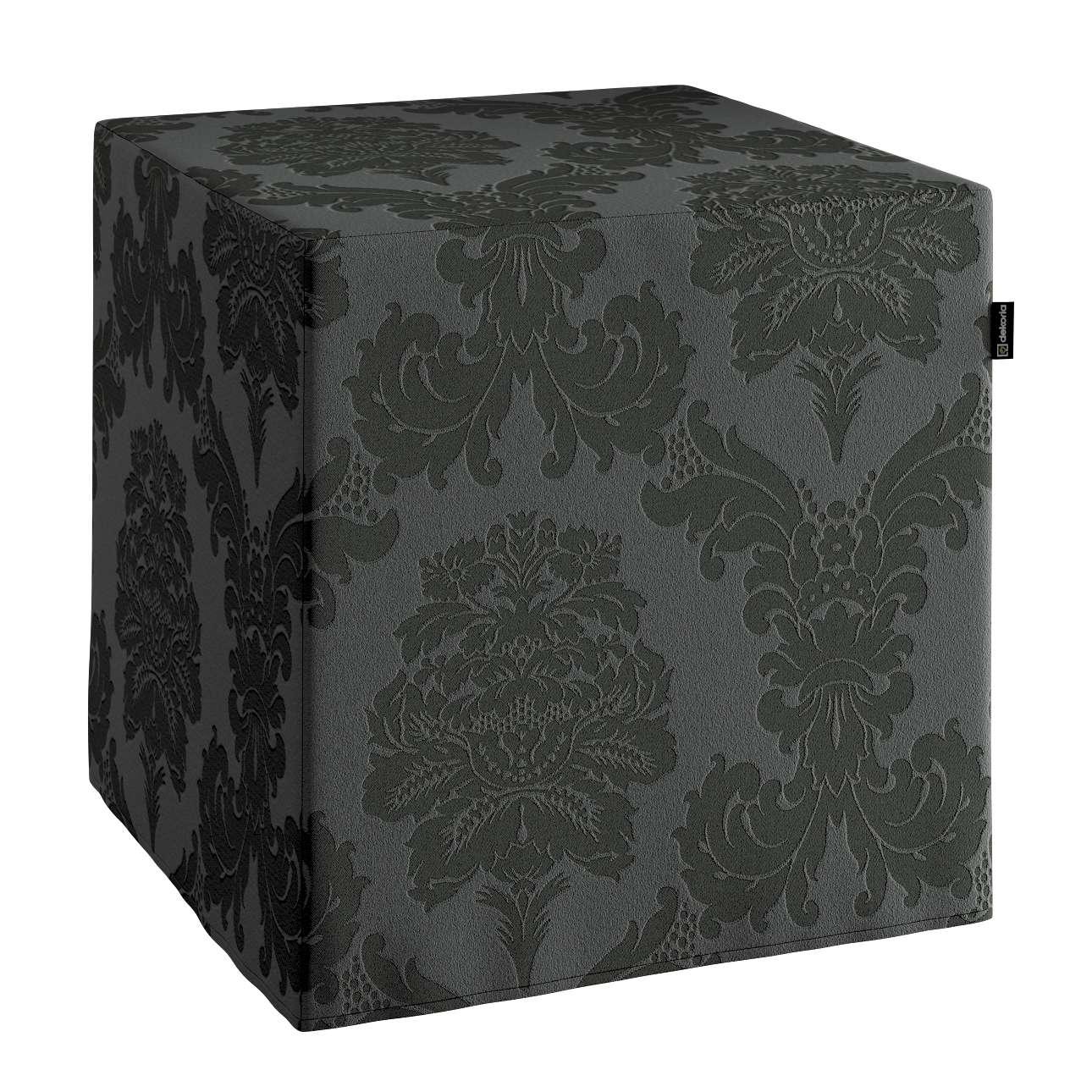 Sedák Cube - kostka pevná 40x40x40 v kolekci Damasco, látka: 613-32