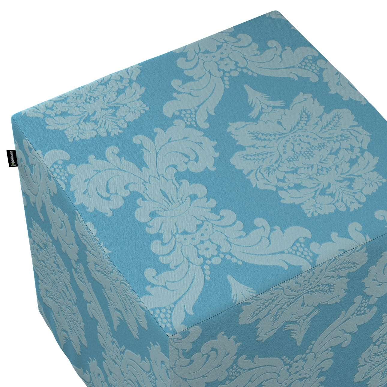 Sedák Cube - kostka pevná 40x40x40 v kolekci Damasco, látka: 613-67