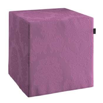 Sedák Cube - kostka pevná 40x40x40 v kolekci Damasco, látka: 613-75