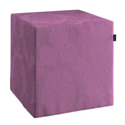 Taburetka tvrdá, kocka 613-75 fialová Kolekcia Damasco