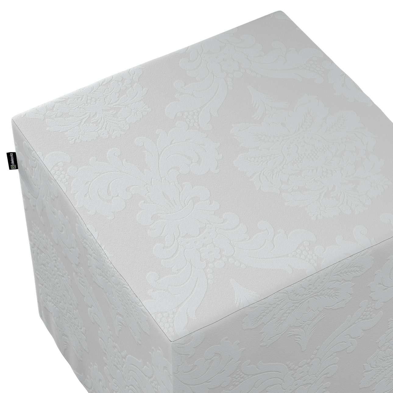 Sedák Cube - kostka pevná 40x40x40 v kolekci Damasco, látka: 613-81