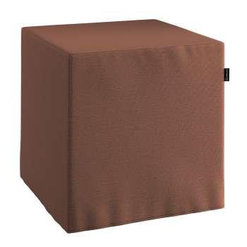 Taburetka tvrdá, kocka V kolekcii Loneta, tkanina: 133-09