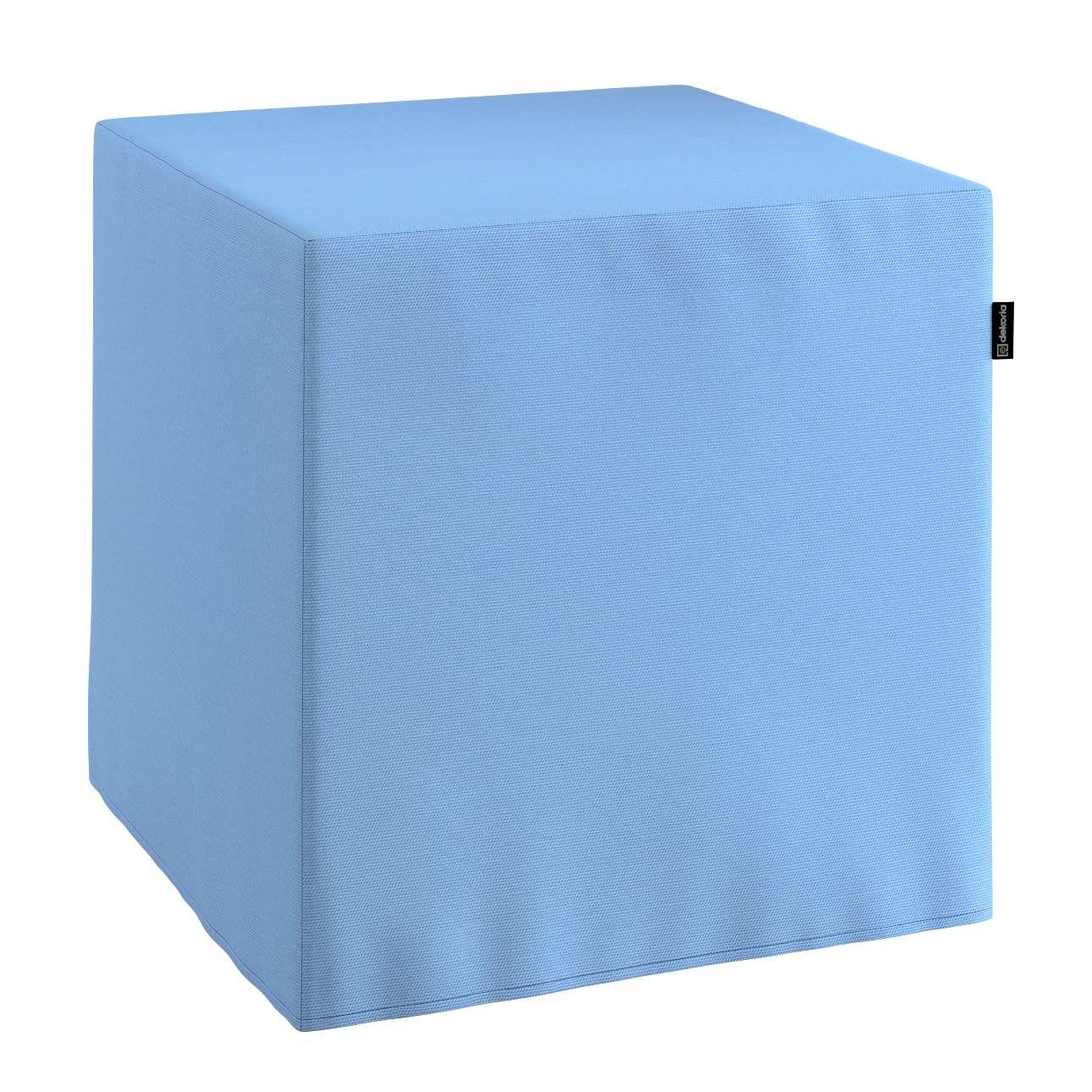 Pufa kostka twarda 40x40x40 cm w kolekcji Loneta, tkanina: 133-21