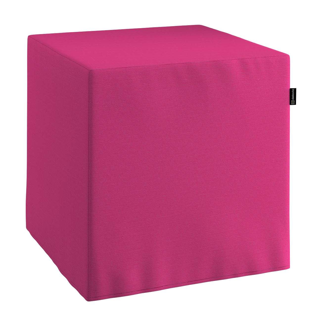 Harter Sitzwürfel 40 x 40 x 40 cm von der Kollektion Loneta, Stoff: 133-60