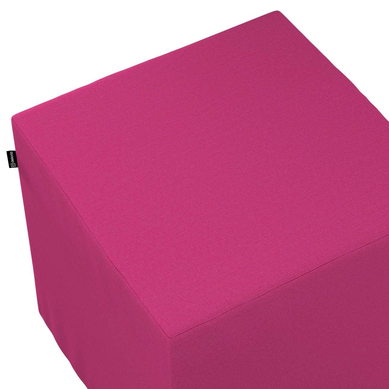 Taburetka tvrdá, kocka V kolekcii Loneta, tkanina: 133-60