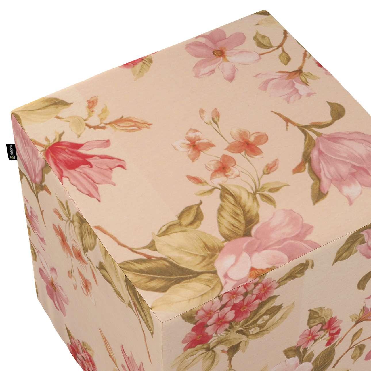 Taburetka tvrdá, kocka V kolekcii Londres, tkanina: 123-05
