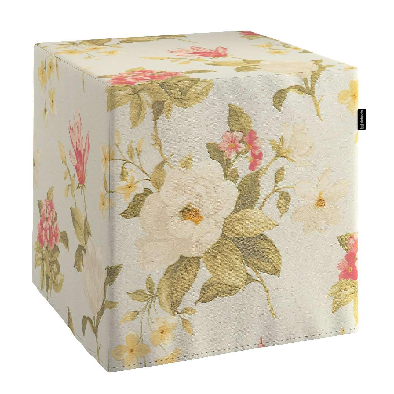 Sedák Cube - kostka pevná 40x40x40 v kolekci Londres, látka: 123-65