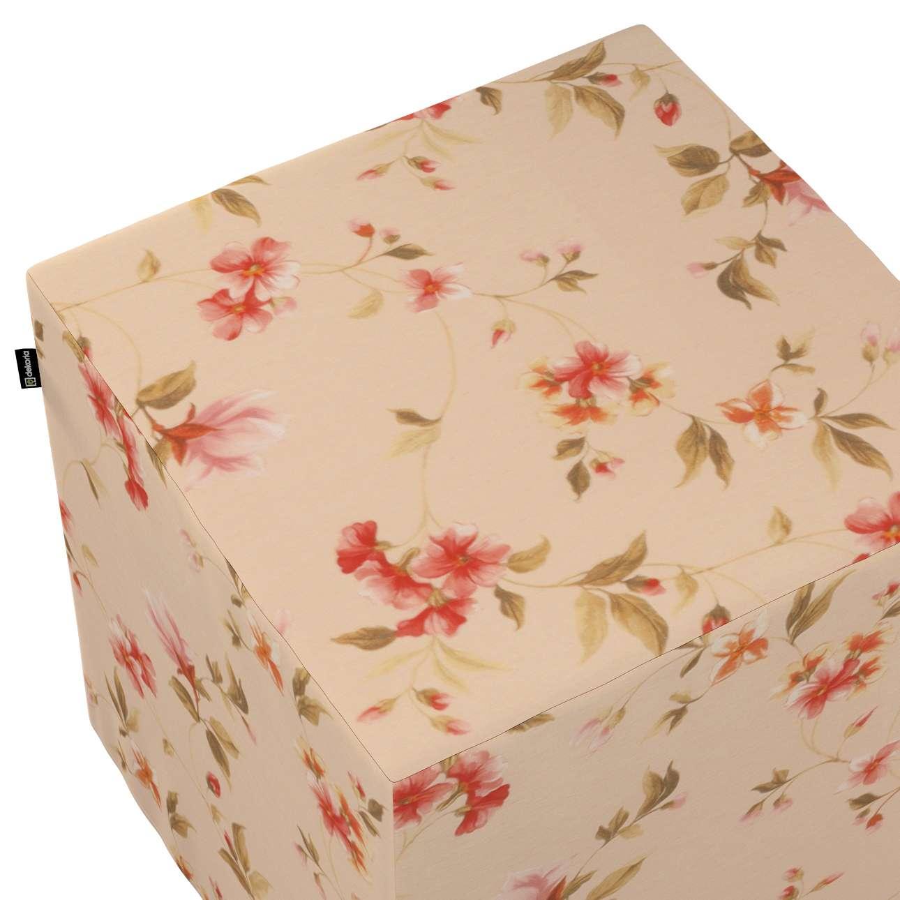 Taburetka tvrdá, kocka V kolekcii Londres, tkanina: 124-05