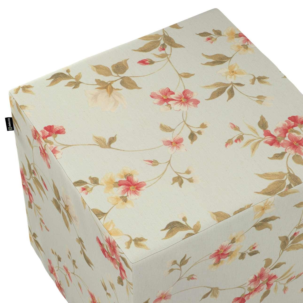Taburetka tvrdá, kocka V kolekcii Londres, tkanina: 124-65