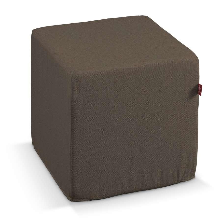 Harter Sitzwürfel, braun, 40 x 40 x 40 cm, Etna | Wohnzimmer > Hocker & Poufs > Sitzwürfel | Dekoria