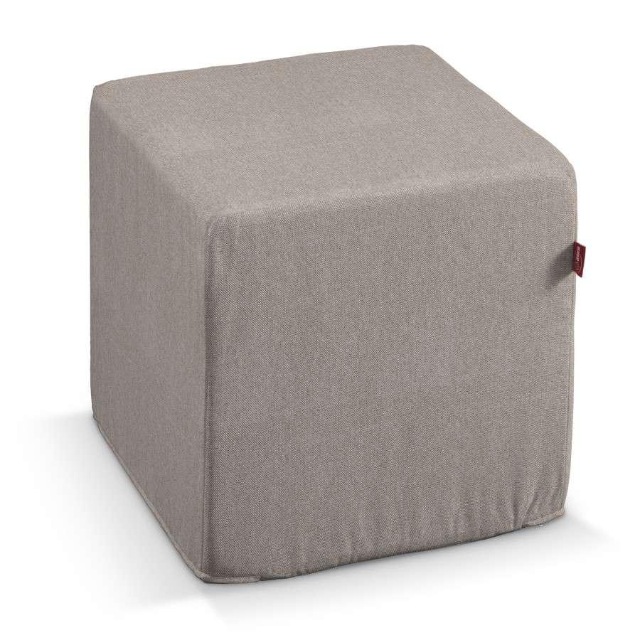 Pufa kostka twarda 40x40x40 cm w kolekcji Etna , tkanina: 705-09