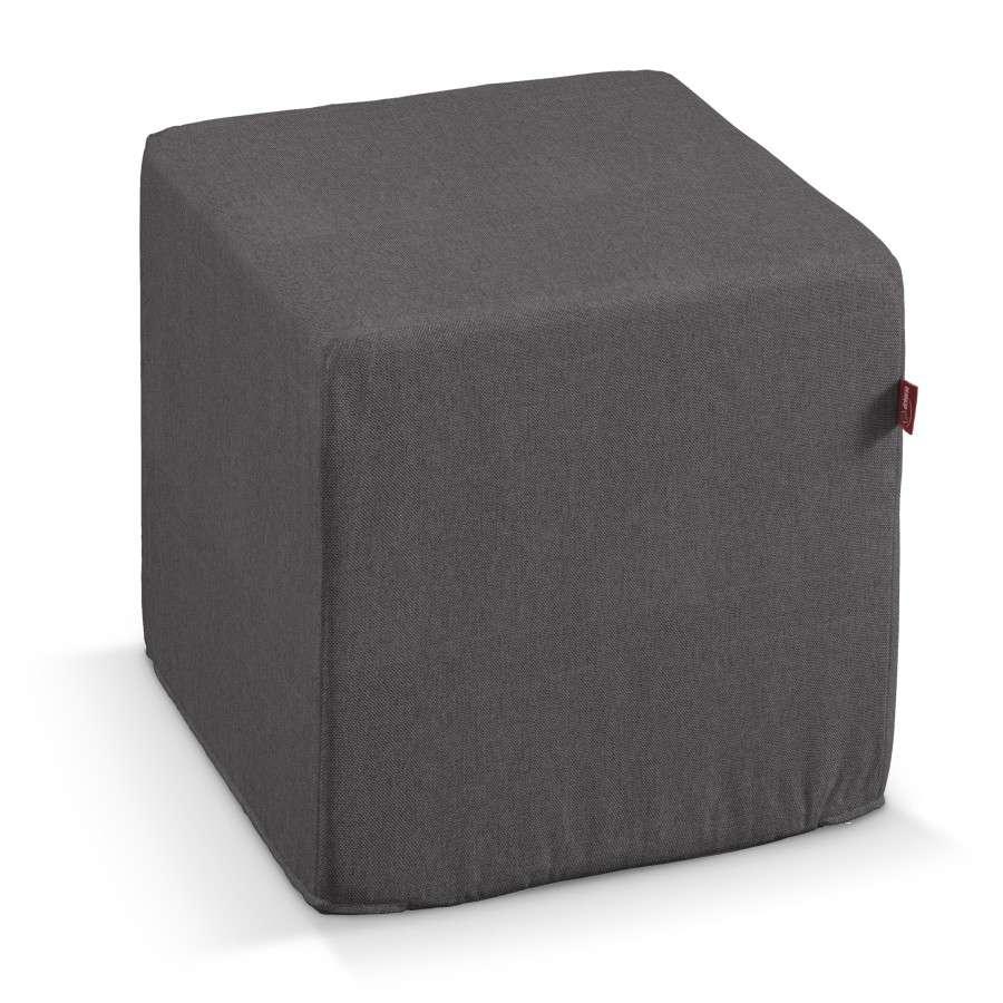 Pufa kostka twarda 40x40x40 cm w kolekcji Etna , tkanina: 705-35