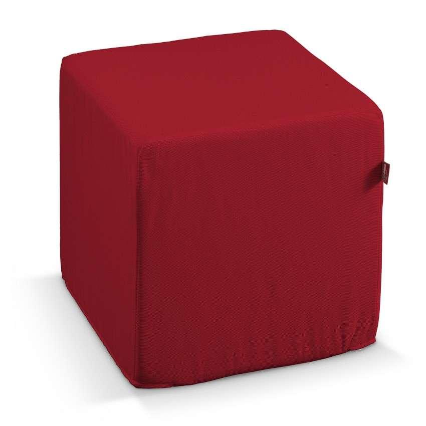 Taburetka tvrdá, kocka V kolekcii Etna, tkanina: 705-60
