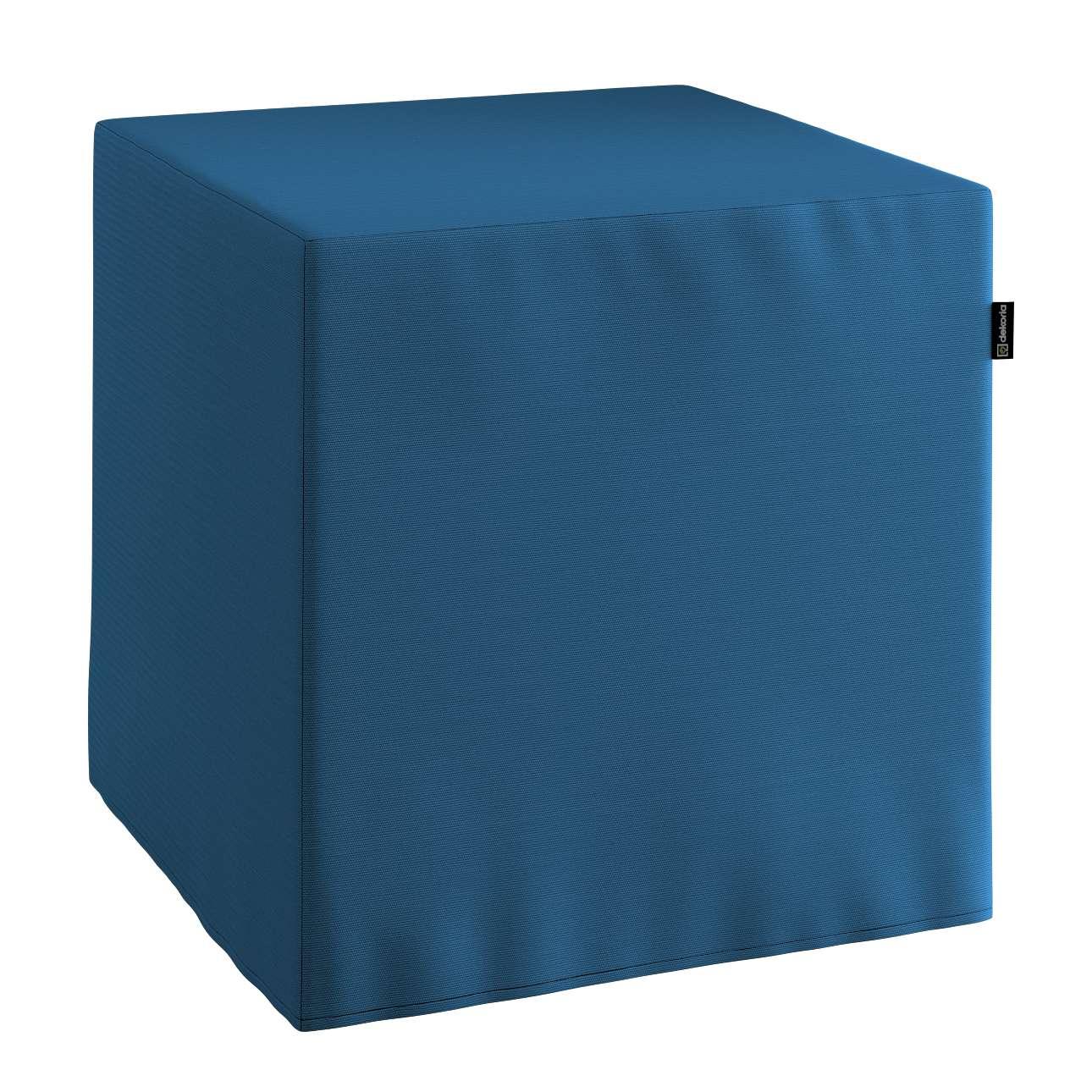 Sitzwürfel, marinenblau , 40 × 40 × 40 cm, Cotton Panama   Wohnzimmer > Hocker & Poufs > Sitzwürfel   Dekoria