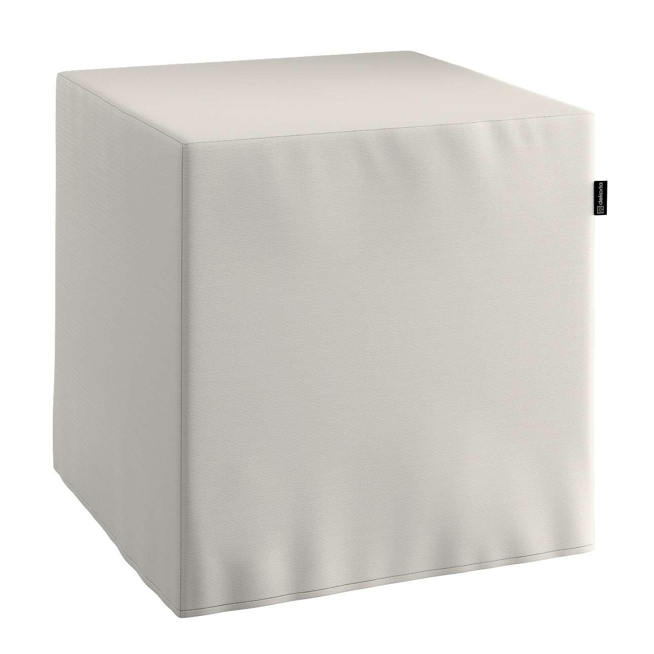Pufa kostka twarda 40x40x40 cm w kolekcji Cotton Panama, tkanina: 702-31