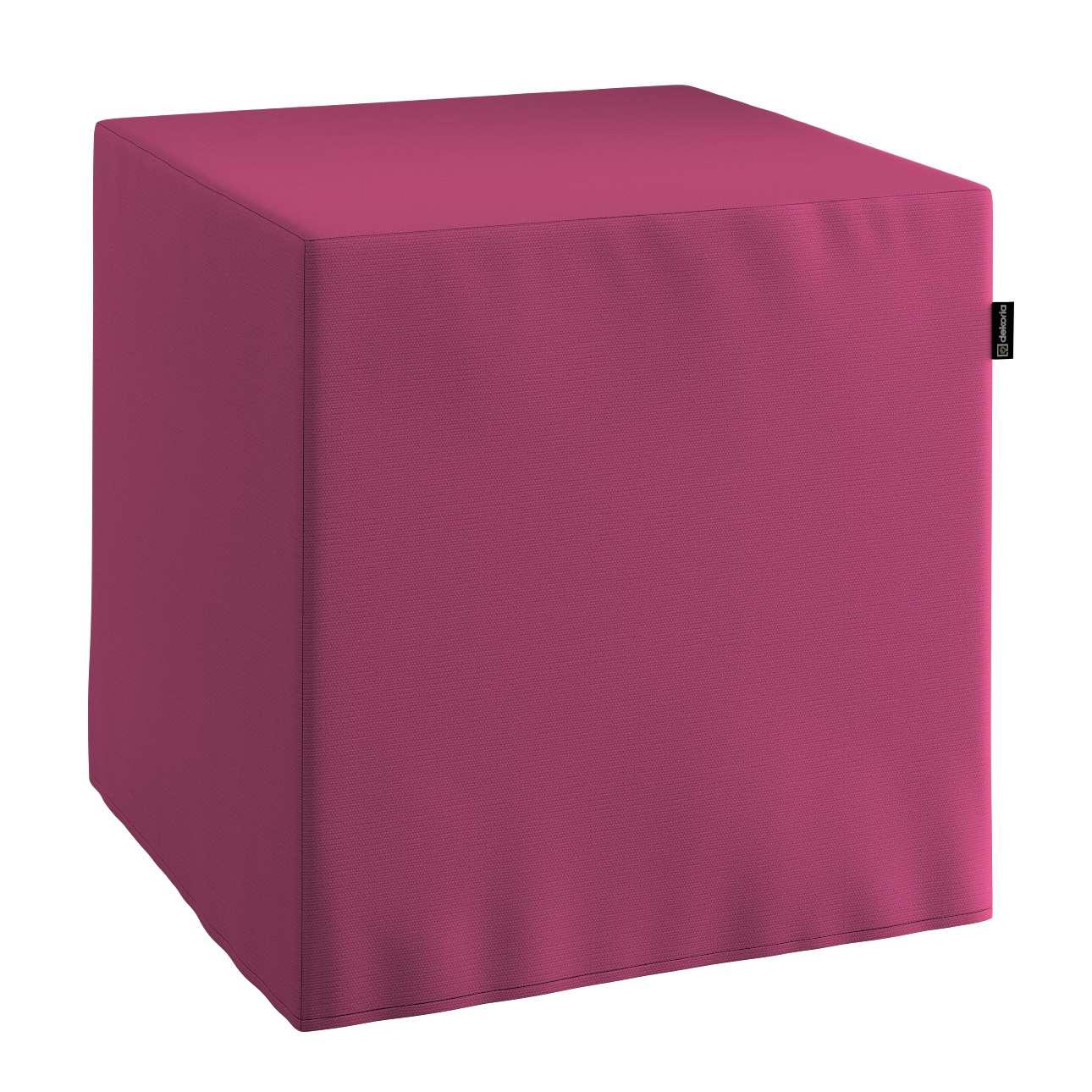 Harter Sitzwürfel 40 x 40 x 40 cm von der Kollektion Cotton Panama, Stoff: 702-32