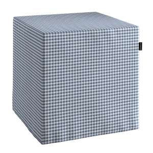 Pufa kostka twarda 40x40x40 cm w kolekcji Quadro, tkanina: 136-00