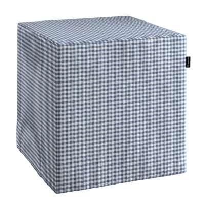 Taburetka tvrdá, kocka V kolekcii Quadro, tkanina: 136-00