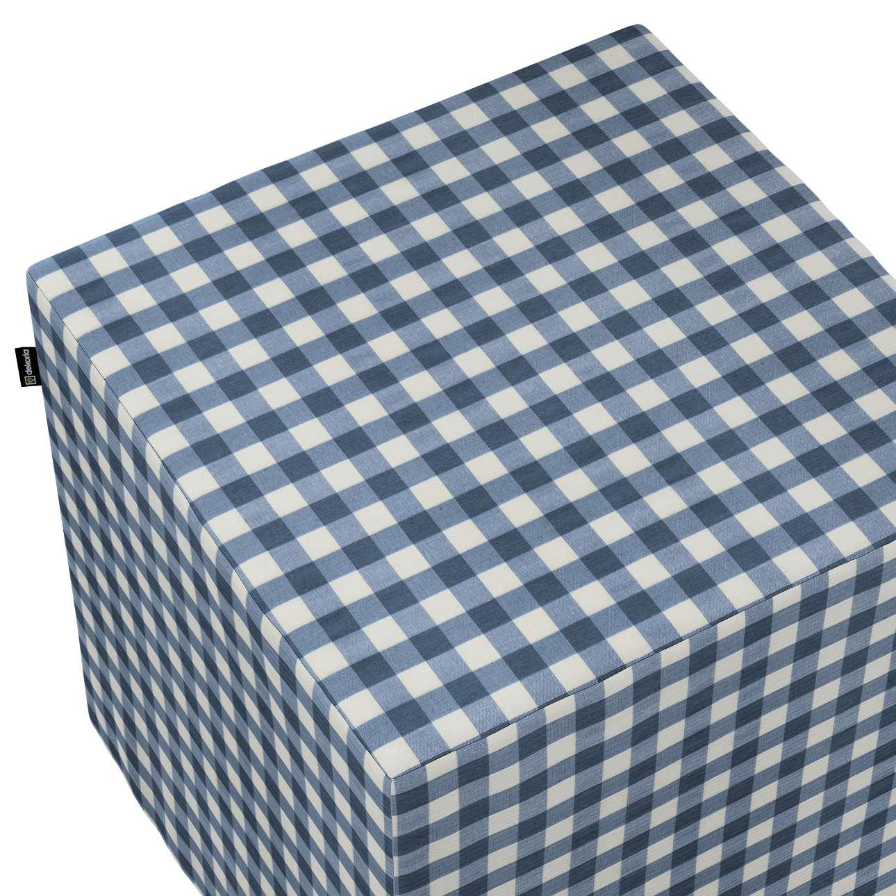 Pufa kostka w kolekcji Quadro, tkanina: 136-01