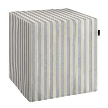 Harter Sitzwürfel 40 x 40 x 40 cm von der Kollektion Quadro, Stoff: 136-02