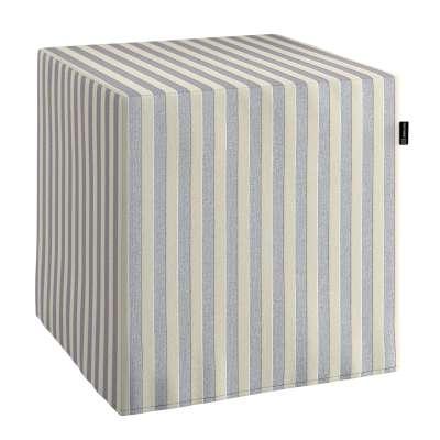 Taburetka tvrdá, kocka V kolekcii Quadro, tkanina: 136-02