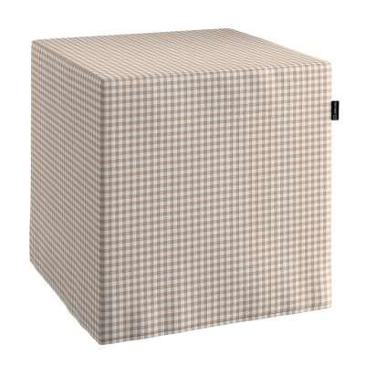 Pufas 136-05 Smėlio ir šviesios spalvos langeliai (0,5x0,5cm), audinys turi natūralų švelnų pasibangavimą Kolekcija Quadro