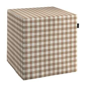 Pufa kostka twarda 40x40x40 cm w kolekcji Quadro, tkanina: 136-06