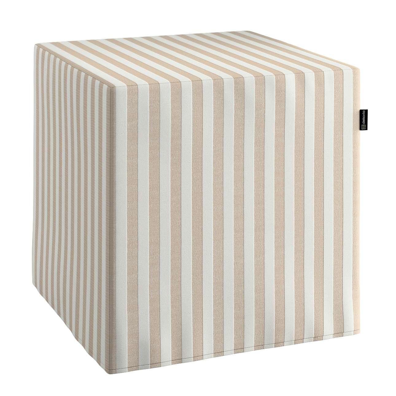 Harter Sitzwürfel 40 x 40 x 40 cm von der Kollektion Quadro, Stoff: 136-07