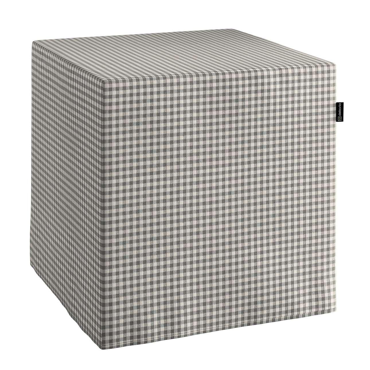 Sedák Cube - kostka pevná 40x40x40 v kolekci Quadro, látka: 136-10